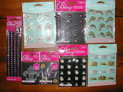 Scrapbook OUR GIRLY PRINCESS CROWN BLING STICKERS Lot *60% OFF *FREE Ship