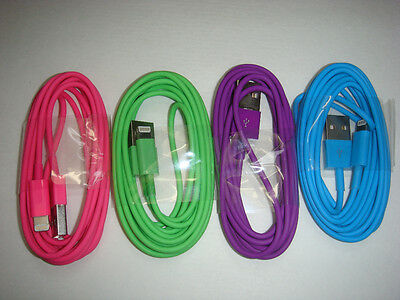 4x 2M/6Ft Long Usb charger data sync cord for iphone5 5s 5c iphone 6 6 plus #4