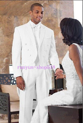 2019 Hot Sale White Groom Tuxedos Wedding Suits Special Occasion Business Suits