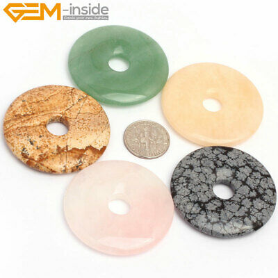 40mm Donuts Ring Natural Stone Loose Beads For Jewelry Making Wholesale Gemstone