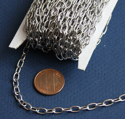 30ft spool of Surgical stainless steel Drawn cable chain 3.5x7mm