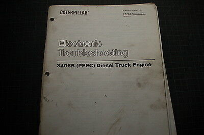 CATERPILLAR 3406B Truck Engine Troubleshooting Service Manual repair shop book