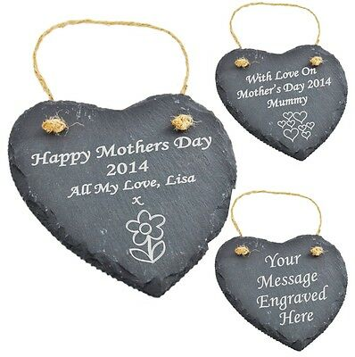 Personalised Engraved Heart Slate Mothers Day Gift SG1