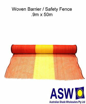 90cm x 50m Roll BARRIER / SAFETY BUILDING SITE FENCE Woven Fencing Netting