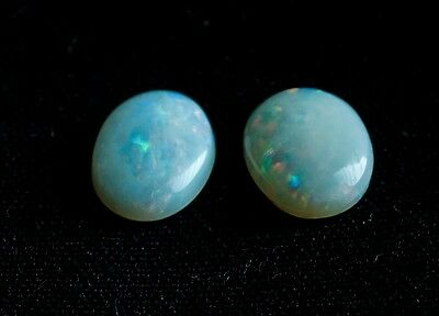 2 Natural Genuine Opal Loose Gemstone Cab Oval 8x6mm 1.8 Carots