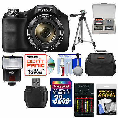 Sony Cyber-Shot DSC-H300 35x Zoom Digital Camera + Kit Black