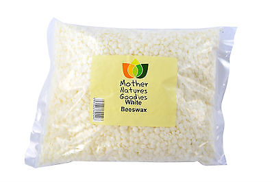 White Beeswax Pellets - Pure Natural Refined Deodorised Cosmetics Grade