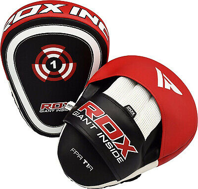 RDX Curved Focus Pads Mitts,Hook and Jab,Punch Bag Kick Boxing Muay Thai MMA AU