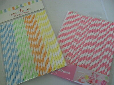 New wedding candy buffet table pack of 25 vintage paper straws pink or multi