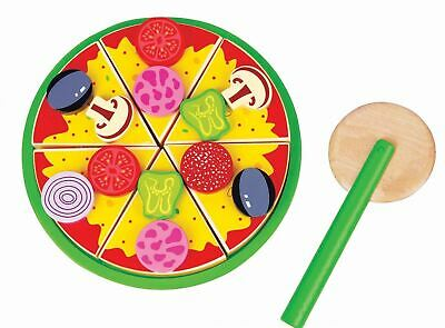 Lelin Wooden Slicing Pizza Party Food Kitchen Toy For Childrens Age 3yrs+