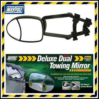 Maypole Dual Deluxe Extension Towing Mirror Convex & Flat Glass- Caravan Wing