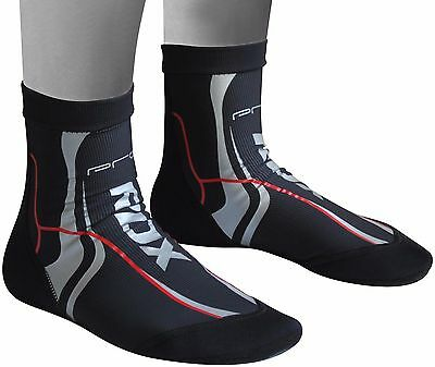 RDX MMA Grip Training Fight Socks Boxing Foot Braces Ankle Shoes Guard Black