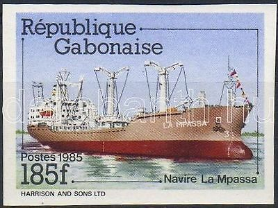 Gabon stamp Freighter MNH Imperforated 1985 Mi 937 WS133759