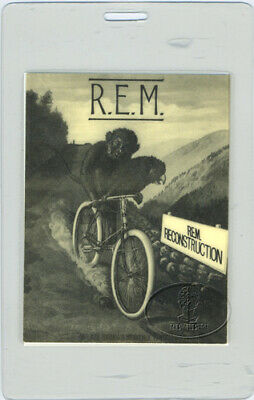 R.e.m. 1985 Reconstruction Laminated Backstage Pass