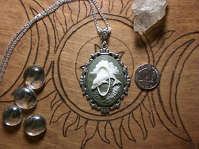 Dolphin Cameo Necklace Pendant