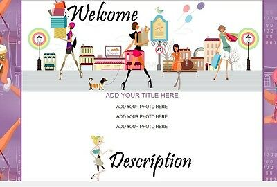 LETS SHOP eBay Listing Auction Template GIRLS Fashion CLOTHING mall SHOPPING