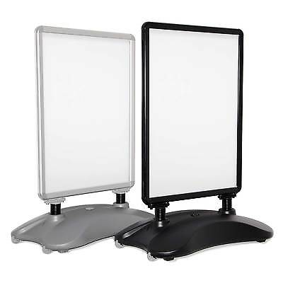 Pavement Sign, Black or Silver, Waterbase A-board, Outdoor Poster Display Stand