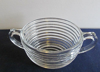 "Anchor Hocking  2 5/8"" DEEP SUGAR BOWL  Depression Glass  Manhattan Pattern"