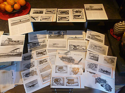 Rolls Royce Aero Engine Pages issued from a 193? brochure Pages découpées .Avion