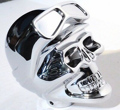 gear shift knob skull biker chrome plated for Peterbilt Kenworth Freightliner