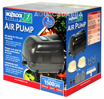 Hozelock Pond Air Pump Garden Fish Pond Koi Airpump Kit Weather Proof Stone Line