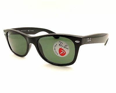Ray Ban 2132 New Wayfarer 901/58 Black Polarized Buyer Picks Size New Authentic