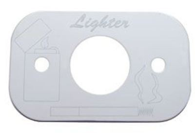 lighter plate etched lettering stainless steel Peterbilt 1987-2000 2 screw holes