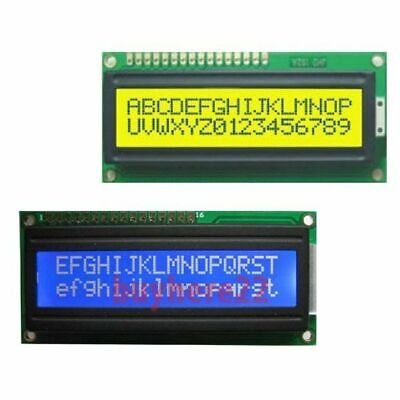 2x16 Alphanumeric LCDs LCD HD44780 WHITE ON BLUE OR BLACK ON YELLOW UK Seller