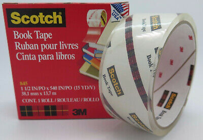 3M Scotch Book Tape 845 38mm x 13.7M Transparent 70016014642