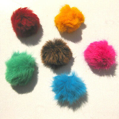 Go Cat - Fur Ball Bat Arounds - Set of 6 or Bulk lot of 24 - Assorted Fun Colors