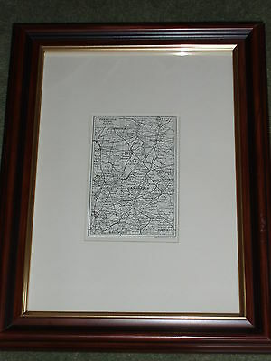 Print circa 100 yrs old Map of Cambridgeshire