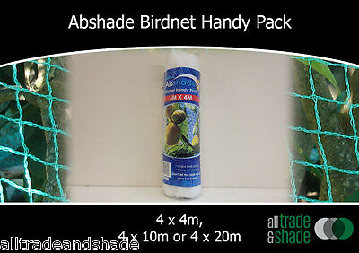 Birdnetting / Anti Bird/Bat Net 4M wide x 4M/10M/20M long- WHITE