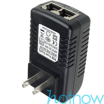 24V 1A PoE Injector Power Over Ethernet Adapter 4 Ubiquiti POE-24-12W POE-24-24W