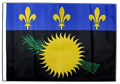 """France Guadeloupe Banner 30x45cm – 18""""x12"""" Small Flag"""