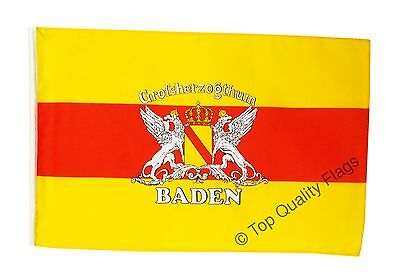 """Germany Baden with coat of arms Banner 30x45cm – 18""""x12"""" Small Flag"""