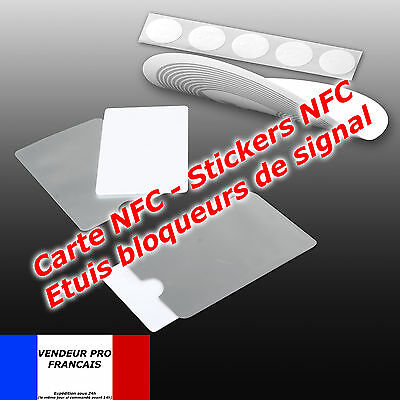 Sticker TAG NFC sans contact Touchless  Carte NFC card RFID Samsung Nokia Sony