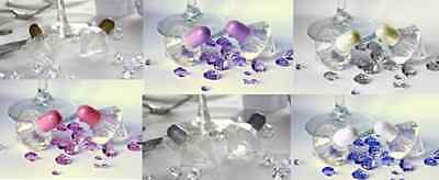 New wedding table decoration crystal set of 24 bubbles favours Gold Purple Pink