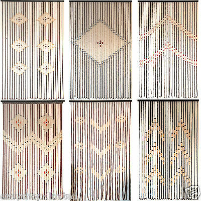 Top Quality Bamboo Beaded Door Curtains Blinds Fly Insects Door Curtain Wooden
