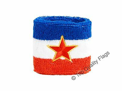 WRISTBAND Yugoslavia old Flag SWEATBAND 7x8cm SET of 2 pcs