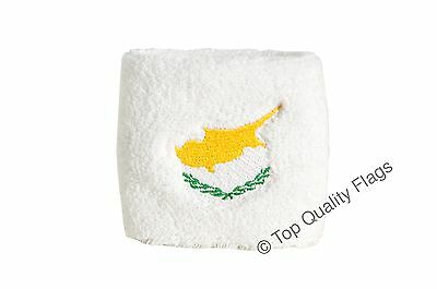 WRISTBAND Cyprus Flag SWEATBAND 7x8cm SET of 2 pcs
