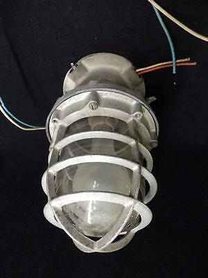 Vintage Explosion Proof Industrial Steampunk Factory Cage Light Fixture 3102-14