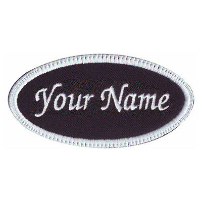 OVAL CUSTOM EMBROIDERED NAME TAG  (F)