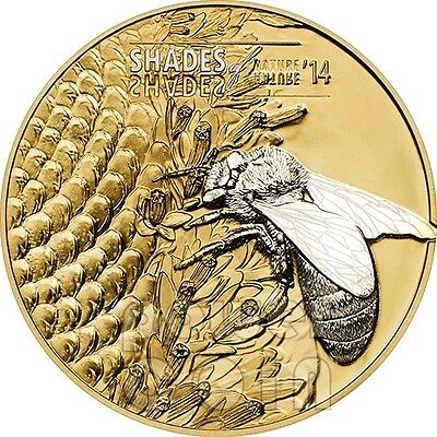 HONEY BEE Shades Of The Nature Silver Coin 5$ Cook Islands 2014