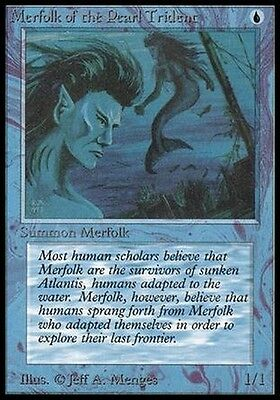 Magic the Gathering MTG Beta MERFOLK OF THE PEARL TRIDENT EX