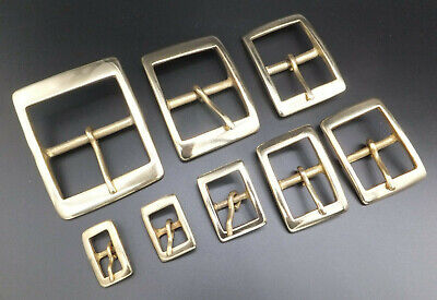 """CAST SOLID BRASS [ 3/8""""  - 2"""" ] RECTANGLE BELT BUCKLE you select"""