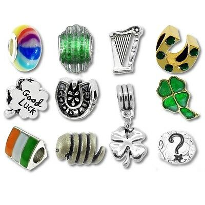 Beads and Charms for European Charm Bracelets Lucky Day Green St Patricks Day
