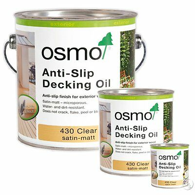 Osmo Anti Slip Decking Oil 430 Clear For Wooden Decking Boards & Staircases