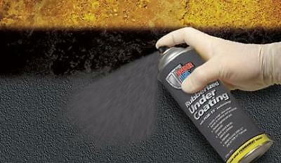 POR 15 49308 Rubberized Black Undercoating - (1) 17oz Aerosol Can - Paintable