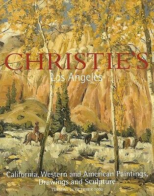 Christie's Sale 9500/ California Western American Paintings Auction Catalog 2000