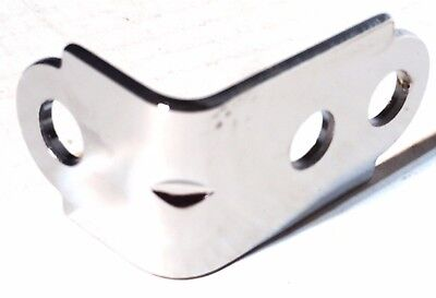 """bracket mirror chrome plated 1 3/4 x 1 x 1-1/4""""  'L"""" style for door mirrors"""